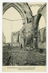 Ramscapelle : ce qui reste de la magnifique église. Rimains of the splendi…