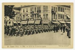 SPA. Défilé de Wurtembourgeois, guerre 1914