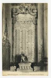 Lunéville : église Saint-Jacques. Le Monument aux Morts de la Grande Guerre