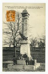 Louppy-Le-Château (Meuse) : monument élevé à la Mémoire des Enfants de Lou…