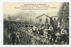 Glorification du Soldat Inconnu : transfert du Cœur de Gambetta, le Cortèg…