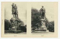 Metz : avant/après, statue de Guillaume Ier