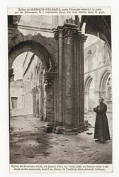 Église de Sermaize-les-Bains, après l'incendie allumé à la main par les Al…