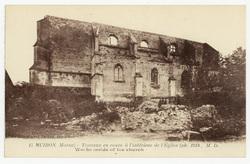 Huiron (Marne) : travaux en cours à l'intérieur de l'Église. Works inside …