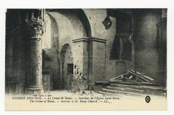 Intérieur de l'Église Saint-Rémy. The Crime of Reims. Intérior of St. Remy…