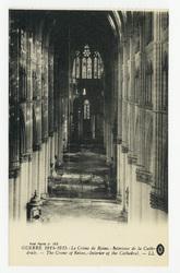 Intérieur de la Cathédrale. The Crime of Reims : interior of the Cathedral…