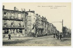 Faubourg de Laon. Laon suburb, ruines de Reims