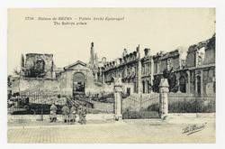 Palais Archi Episcopal. The Bishops palace, ruines de Reims