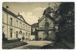 Entrée de la chapelle et conciergerie : institution Saint-Joseph, Nancy
