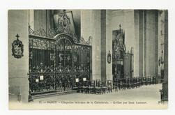 Nancy. Chapelles latérales de la Cathédrale. Grilles par Jean Lamour