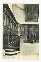 Nancy. Église des Cordeliers. Stalles du chœur (boiseries du XVIIe siècle)