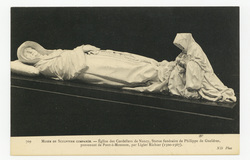 Église des Cordeliers de Nancy : statue funéraire de Philippe de Gheldres,…