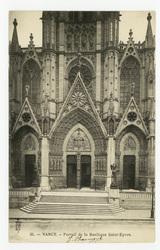 Nancy. Portail de la Basilique Saint-Epvre