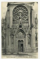 Nancy. Église Saint-Epvre. Portail (côté sud)
