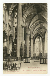 Nancy : intérieur de Saint-Epvre. La Lorraine illustrée