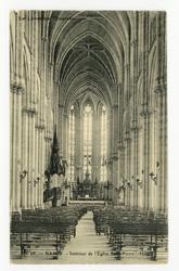 Nancy. Intérieur de l'Église Saint-Pierre (1885). La Lorraine Illustrée