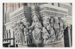 Église N.-D. de Lourdes de Nancy. Chapiteau du Transept, sculpté par MM Hu…