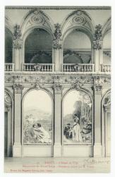 Nancy. L'Hôtel de Ville, décoration du Grand Salon, panneaux peints par E.…
