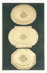 Plats d'un service ducal aux armes du duc Léopold de Lorraine et d'Élisabe…