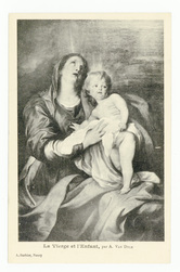 La vierge et l'enfant, par A. Van Dyck