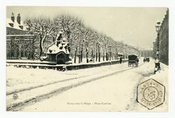 Nancy sous la neige : place carrière