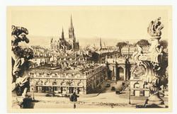 Nancy : la Place Stanislas vue de l'Hôtel-de-Ville