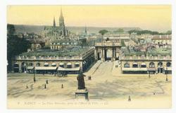 Nancy : la Place Stanislas, prise de l'Hôtel de Ville
