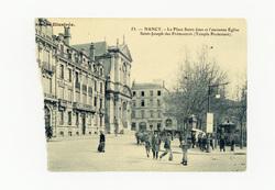 Nancy : la place Saint-Jean et l'ancienne église Saint-Joseph des Prémontr…