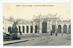 Nancy : Arc-de-Triomphe, vu du côté de la place de la Carrière