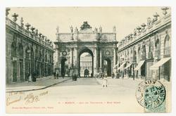 Nancy : Arc de triomphe, rue Héré