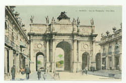 Nancy : Arc de Triomphe, rue Héré