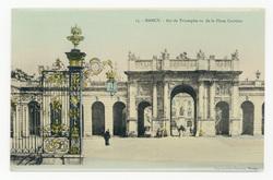 Nancy : Arc de Triomphe vue de la Place Carrière