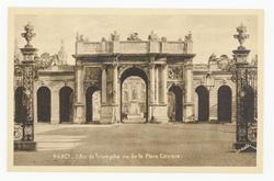 Nancy : l'Arc de Triomphe vu de la Place Carrière