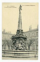 Nancy. Fontaine et Place d'Alliance. La Lorraine illustrée