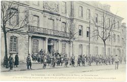 Au grand Séminaire de Nancy, 20 novembre 1906 : à la vue de l'objectif, un…