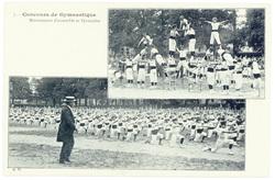 Mouvements d'ensemble et pyramides : concours de gymnastique