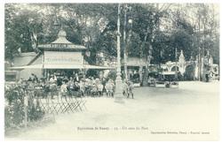Un coin du parc : exposition de Nancy