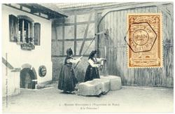 A la fontaine !  Maisons alsaciennes à l'exposition de Nancy