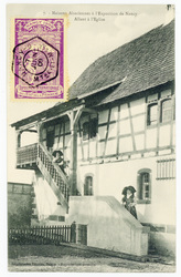 Allant à l'église : maisons alsaciennes à l'exposition de Nancy