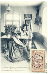 Les deux sœurs : maisons alsaciennes à l'exposition de Nancy