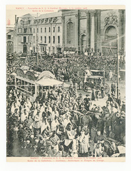 Nancy. Funérailles de S. E. le Cardinal Mathieu, le 30 octobre 1908. Sorti…