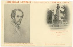 Portrait de Grandville, peint par lui-même : monument de Grandville à Nanc…