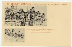 Au théâtre : types aux balcons : (éditée spécialement pour le Chocolat Lor…