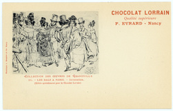 Les bals à Paris : intermède : (éditée spécialement pour le Chocolat Lorra…