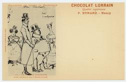 Un double contraste : (éditée spécialement pour le Chocolat Lorrain), choc…