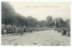 Les drapeaux du 20e Corps : Nancy, 27 juillet 1919