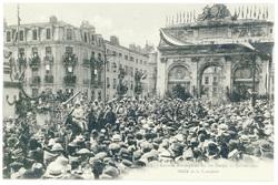Défilé de la cavalerie. Nancy : rentrée triomphale du 20e corps, 27 juille…