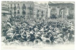 Défilé des drapeaux. Nancy : rentrée triomphale du 20e corps, 27 juillet 1…