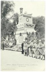 Le cénotaphe. Nancy : rentrée triomphale du 20e corps, 27 juillet 1919