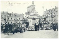 Le cénotaphe. Nancy, 27 juillet 1919